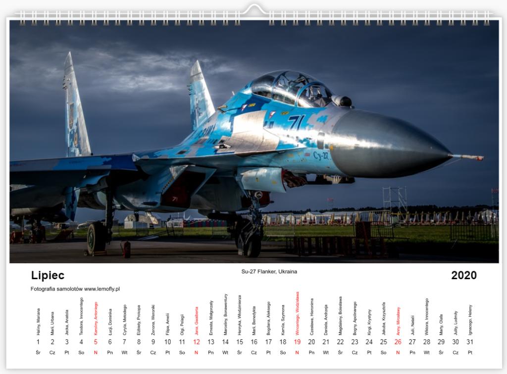 Kalendarz lotniczy samoloty 2020 lemofly.pl