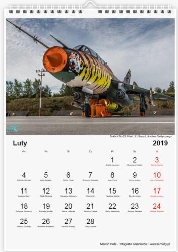 Kalendarz Lotniczy 2019 - luty