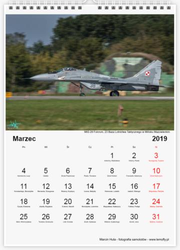 Kalendarz Lotniczy 2019 - marzec