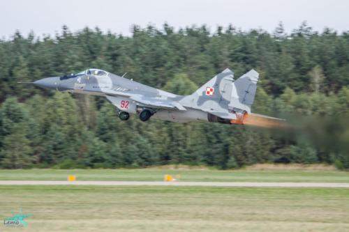 mig-29 poland polish air force fotografia lotnicza