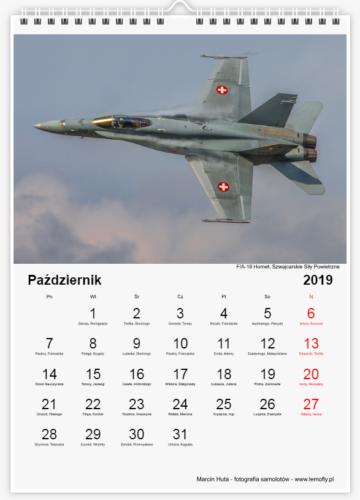 Kalendarz Lotniczy 2019 - październik